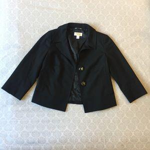 Talbots Petite Black 3/4 Sleeve Jacket